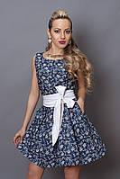 Платье летнее 248 бело-синий