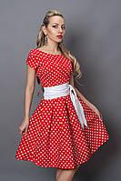 Платье миди 249-7 красный разм 44 46
