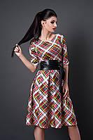 Женское платье мод. № 381-16 клетка