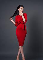 Платье стильное 256 красный, размеры 44,46,48,50, фото 1