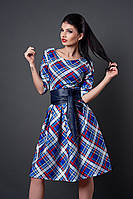 Женское платье мод. № 381-17 клетка р 46