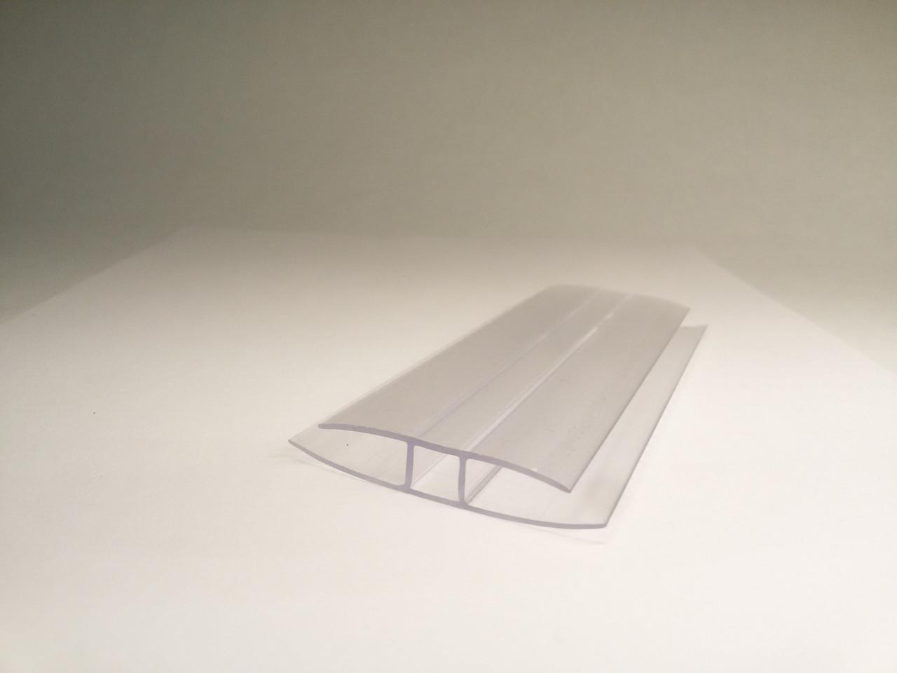 Профиль соединительный неразъемный Polyarc 8 мм прозрачный