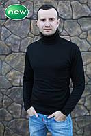 Водолазка гольф мужской вязаный черный