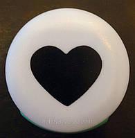 Дырокол фигурный Сердце кнопка 2,5 см