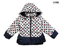 Теплая куртка Minnie Mouse для девочки.  120, 130 см