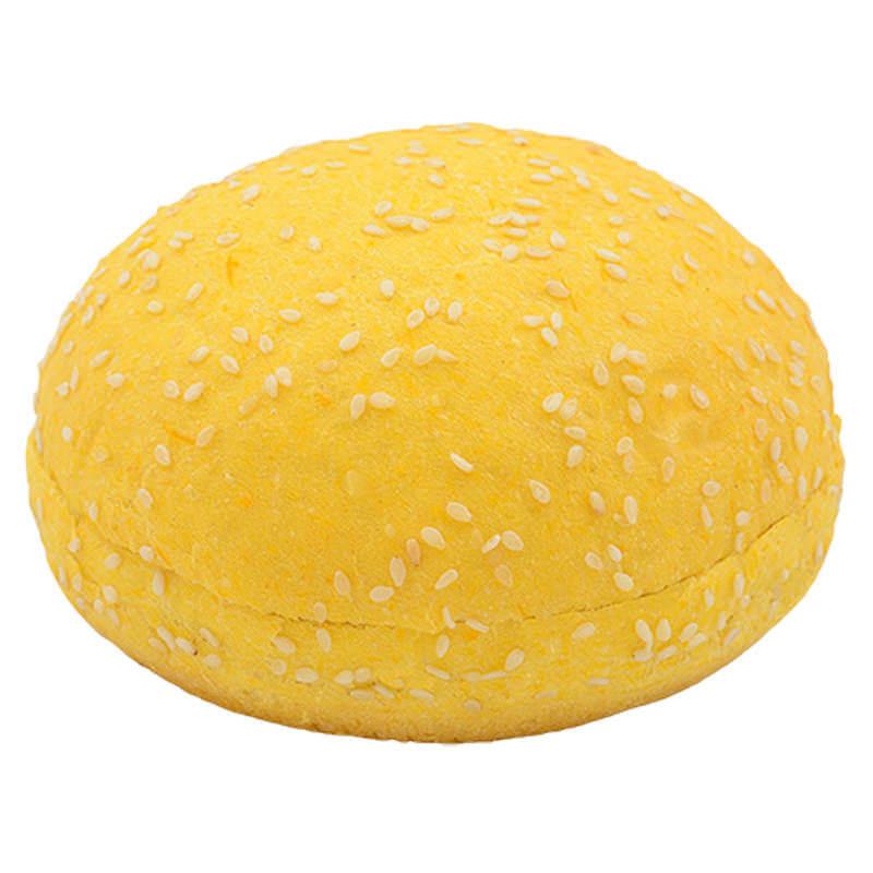 Булочка для гамбургера тыквенная с кунжутом 75г (27шт.)