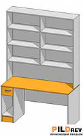Стол со стеллажом для аптеки (1400х600х2184 мм)