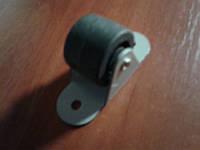 Ролик мебельный чёрный, бочонком с прямым креплением, усиленное (Ф-32 мм)