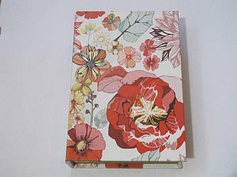 """Книга сейф """"Цветы"""" большая"""