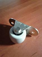 Ролик мебельный серый, бочонком с прямым креплением, усиленное (Ф-32 мм)