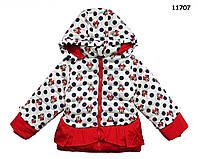 Теплая куртка Minnie Mouse для девочки. 110, 130 см