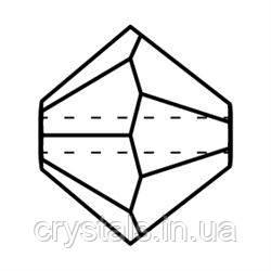 Хрустальные биконусы Crystal с покрытием Preciosa (Чехия)