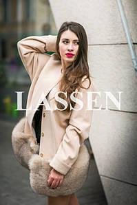 Пальто с меховой юбкой L62
