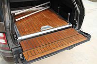 Деревянный пол в багажник на Range Rover Vogue 2015