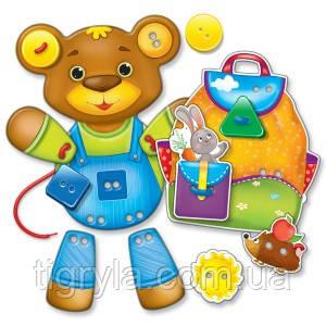 Малышок. Шнуровка и пуговицы Медвежонок Малятко. Шнурівка+гудзики  Ведмедик Развивающая логическая