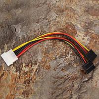 Кабель SATA2-PS переходник питания на 2 Serial ATA flat cable 0,2m