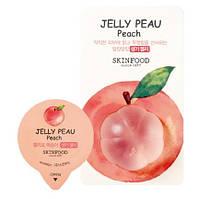 Маска для кожи лица желеобразная, персиковая SKINFOOD Jelly Peau Peach 10мл