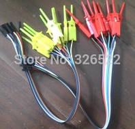 Зажим-зонд с проводом и разъёмом; 24см; для провода