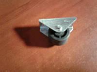 Ролик мебельный чёрный с прямым креплением, усиленное (Ф-23 мм)