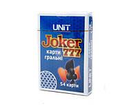 """Карты игральные """"Joker 777"""" 54 шт. UNIT (Карти гральні """"Joker)"""