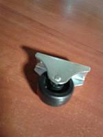 Ролик мебельный чёрный, с прямым креплением, усиленное (Диаметр-32 мм)