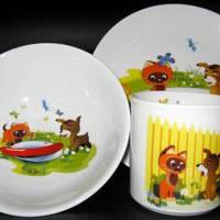 Набор посуды детский 3 предмета Котенок Гав 20