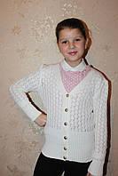 Вязанная кофта для девочки подростка
