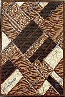 """Рельефный ковер Нью Йорк """"Паркет"""", цвет коричневый"""