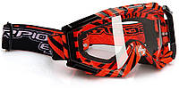 Очки для кросса Scorpion Neon red/black, арт.99-002-05-64, арт. 99-002-05-64