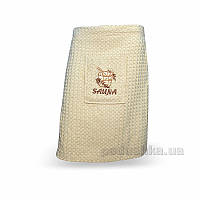 Полотенце вафельное для сауны Home Line бежевое 55х160 см