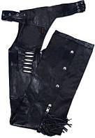 Чапсы женские Hot Leathers Fringe and Bone кожа (XS)