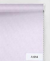 А 614 светло-розовый до 40 см, высота до 1,60 м, Тканевая ролета открытого типа