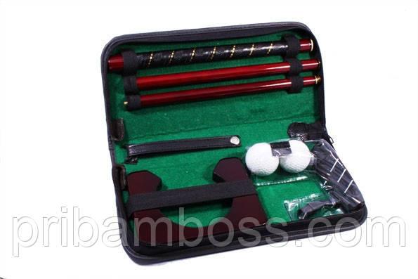 Набор для гольфа в кожанном кейсе