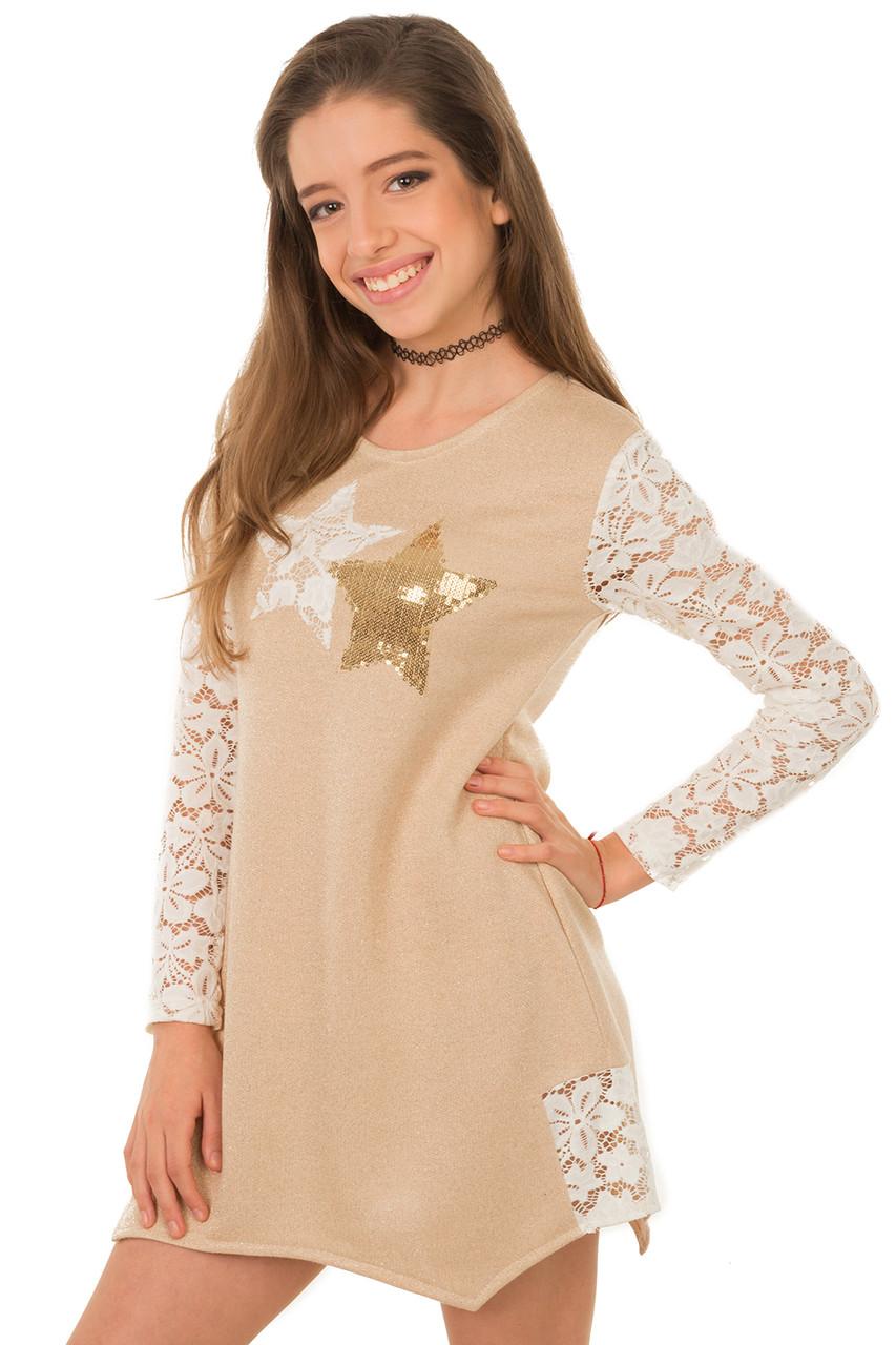 Платье из гипюра для подростков