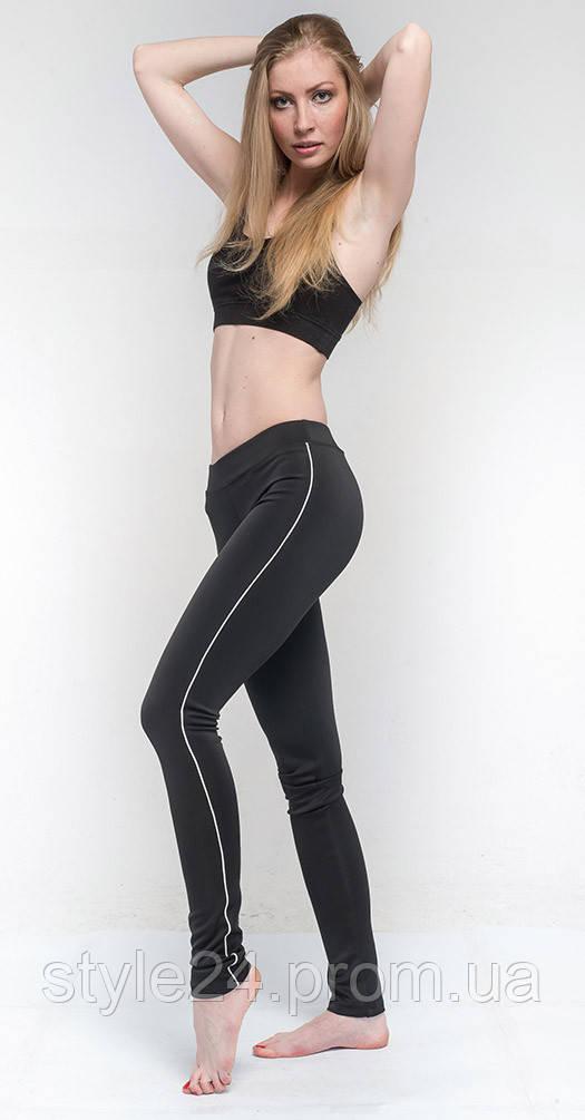 Лосины для фитнеса черные с белым  продажа 1829f24053d7d