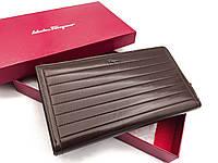Мужской клатч Salvatore Ferragamo (F-7117) brown leather