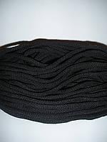 Шнур хлопковый 6мм диаметр черный, польский