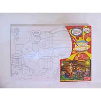 Набор для творчества Роспись на холсте акриловыми красками PX-04-09 Маша и Медведь