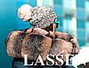 Вязанная шапка с меховым бубоном L70, фото 3