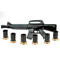 """Подарочный набор под спиртное """" Полуавтоматическая винтовка М16""""."""