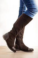 Сапоги женские замшевые / Women's high boots chamois, фото 1