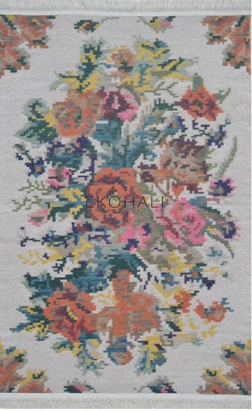 Ковер Петчворк Цветы (с кисточками)