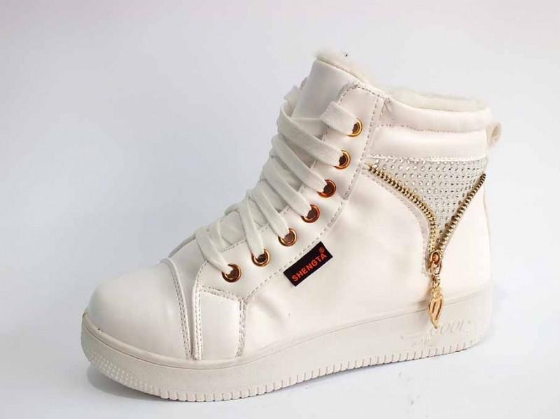 9e979d59 Зимние - кроссовки - ботинки женские на меху высокая подошва белые тёплые красивые  удобные Z-024, цена 480 грн., купить в Одессе — Prom.ua (ID#470834523)