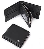 Кожаный мужской кошелек Dr Bond с отделом на молнии. Портмоне из натуральной кожи