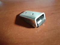 Ролик мебельный чёрный бочёнком, с выносным креплением (Ф-15 мм)