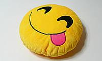 Подушка Смайлик с эмоциями ЭМОДЗИ с языком ( Emoji)
