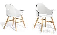 Кресло przezroczysto-белые - Кресло для столовой, для гостиной - кресло kubelkowe - БОСТОН