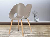 Стул светло-серый - Стул для столовой, для гостиной - стул ведро - МЕМФИС