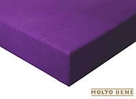 Простынь frotte 180 г. с резинкой Molto Bene 140x200+25см цвет темный фиолетовый