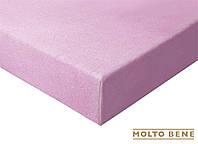 Простынь frotte 180 г. с резинкой Molto Bene 140x200+25см цвет яркий фиолет